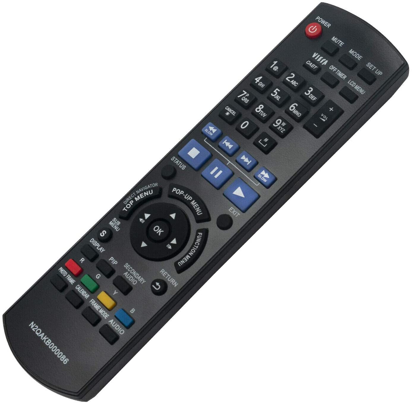 New - Remote Control N2QAKB000086 for Panasonic Blu-ray System DMP-B500 DMP-B500EB