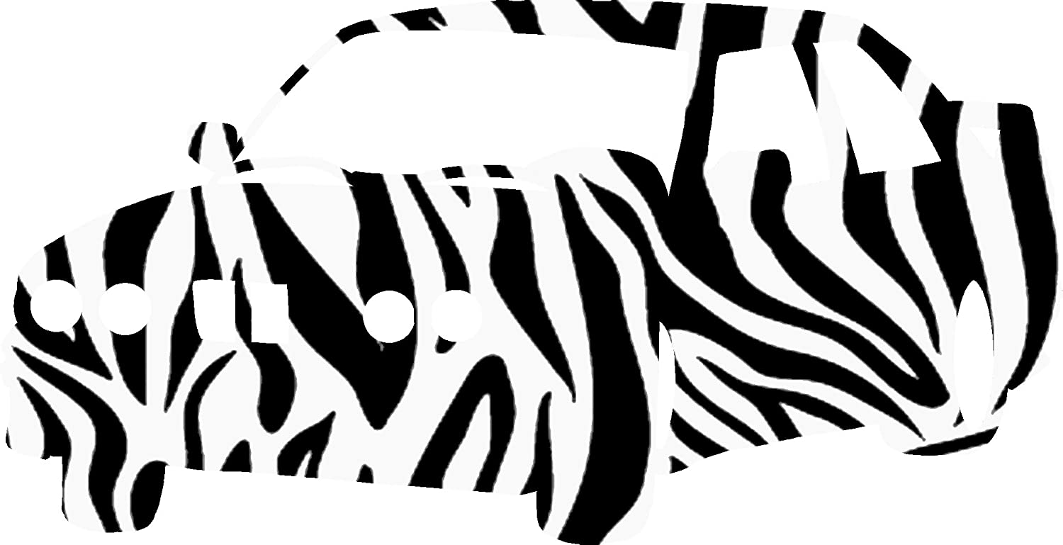 German Sports Car Vinyl Decal - 8 Inches - For Cars, Trucks, Windows, Laptops, Tablets - High Quality, Outdoor-Grade 2.5mil Thick Vinyl - Zebra Print