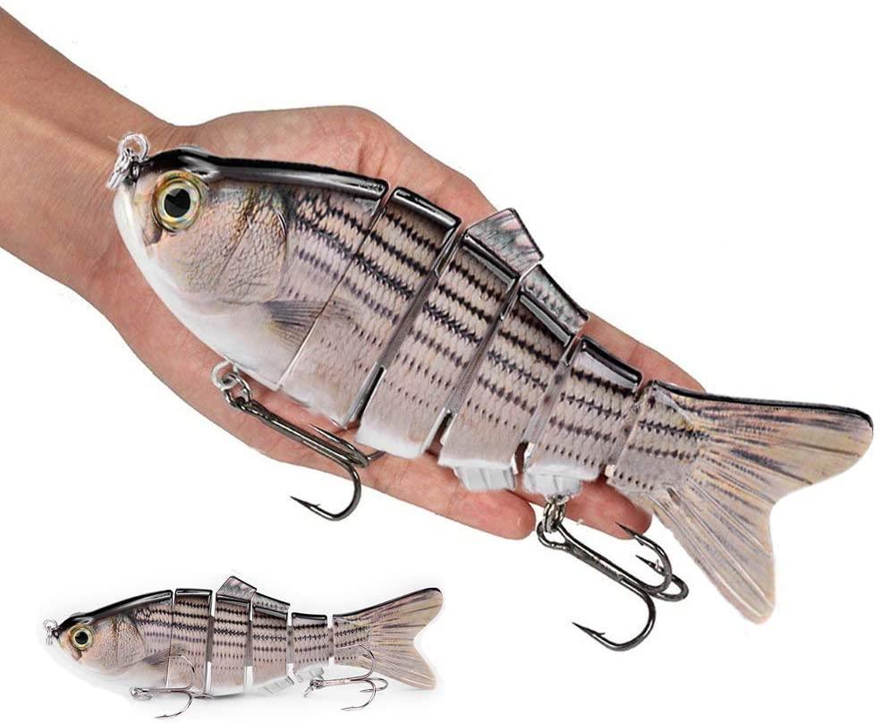 Large Fishing Lures SFEEXUN Bass Fishing Lures Multi Jointed Big Swimbaits Slow Sinking Lifelike Hard Bait Fishing Tackle Kits
