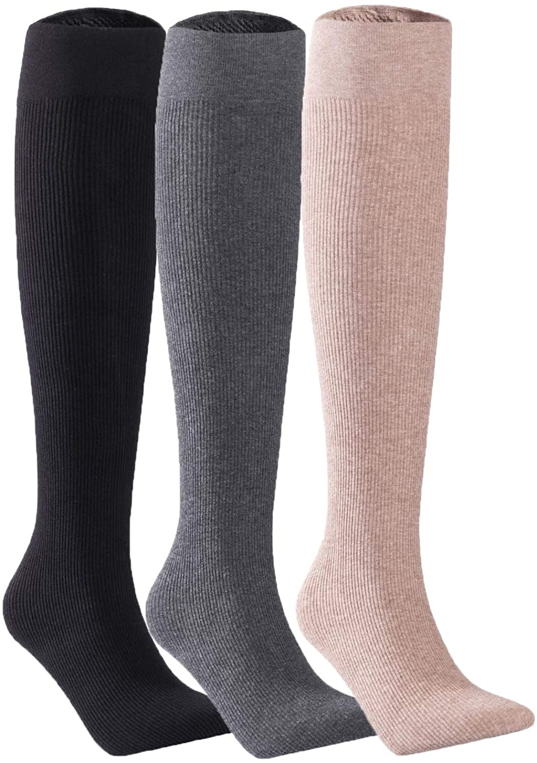Lian LifeStyle Big Girl Women's Exquisite Thigh High Cotton Socks L1888 Size 6-9