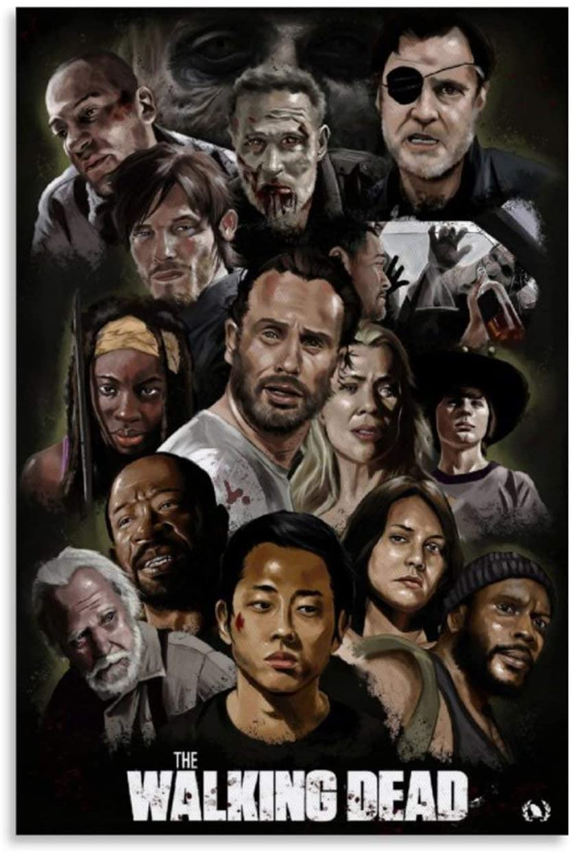 YOUBAI HD Poster,Walking Dead Canvas Art Poster and Wall Art Picture Print Modern Family Bedroom Decor Posters 12x18inch(30x45cm)