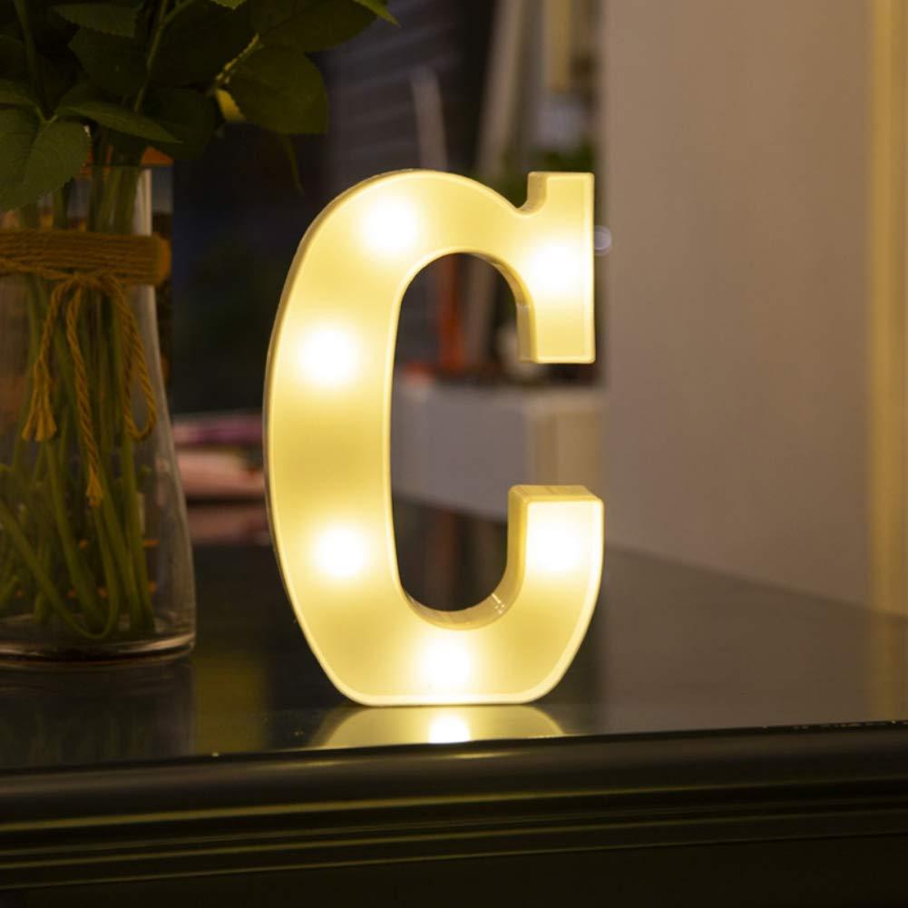 Ardorlove 26 Letters White Led Night Light for Party Wedding Birthday Decoration