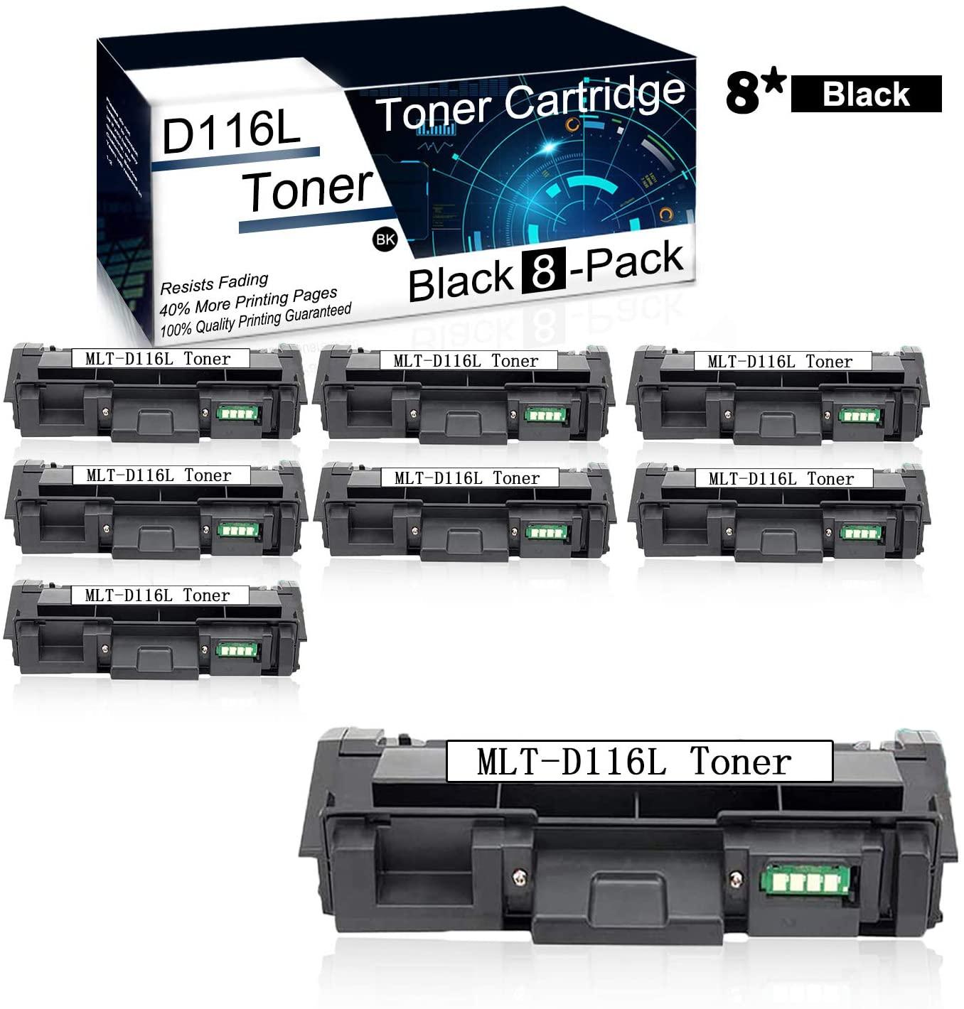 (8Pk,Black) Compatible MLT-D116L Toner Cartridge Used for Samsung Xpress M2825DW M2675FN M2676N M2676FH M2875FW M2625 M2625D M2876HN M288x Series M262x Series M267x Series Priners.