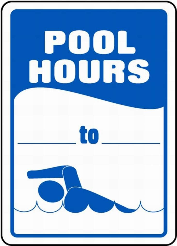 LoMall Pool Hours Safety Sign Notice Sign Warning Sign 8x12 Tin Metal
