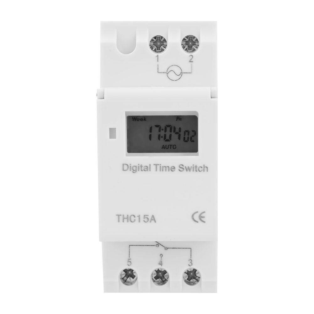 Digital Timer Switch, Wall Timer Switch for Lights Bathroom Wall Switch Timer 220-240V 50-60Hz