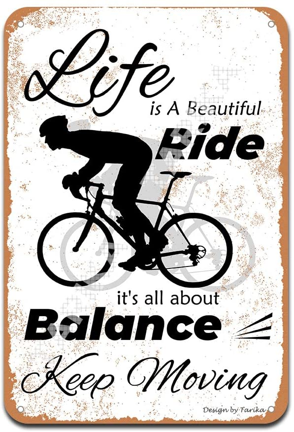 Life is A Beautiful Ride Iron Poster Painting Tin Sign Vintage Wall Decor for Cafe Bar Pub Home Beer Decoration Crafts