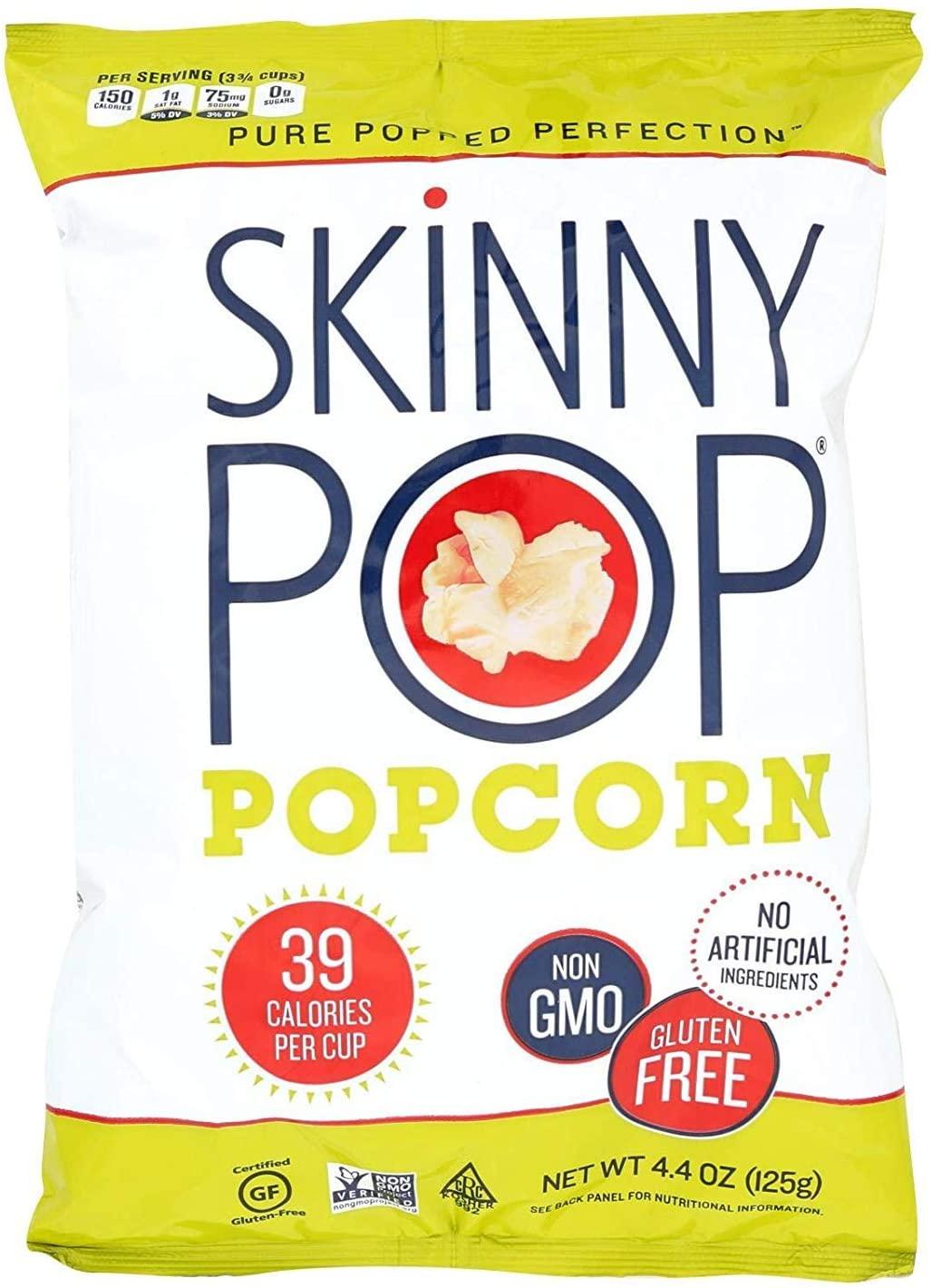 SkinnyPop Popcorn Natural 4.4 oz (Pack Of 12)