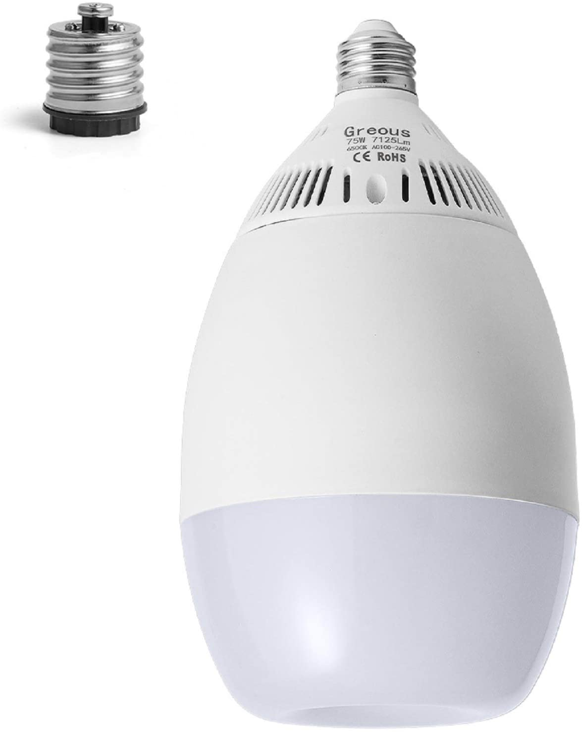 600W-650W Equivalent Super Bright LED Light Bulb, High Lumen 7125lm, 75W 6500K Bright Cool White,for Garage,Barn,Warehouse,Basement,Large Area Lighting,Workshop