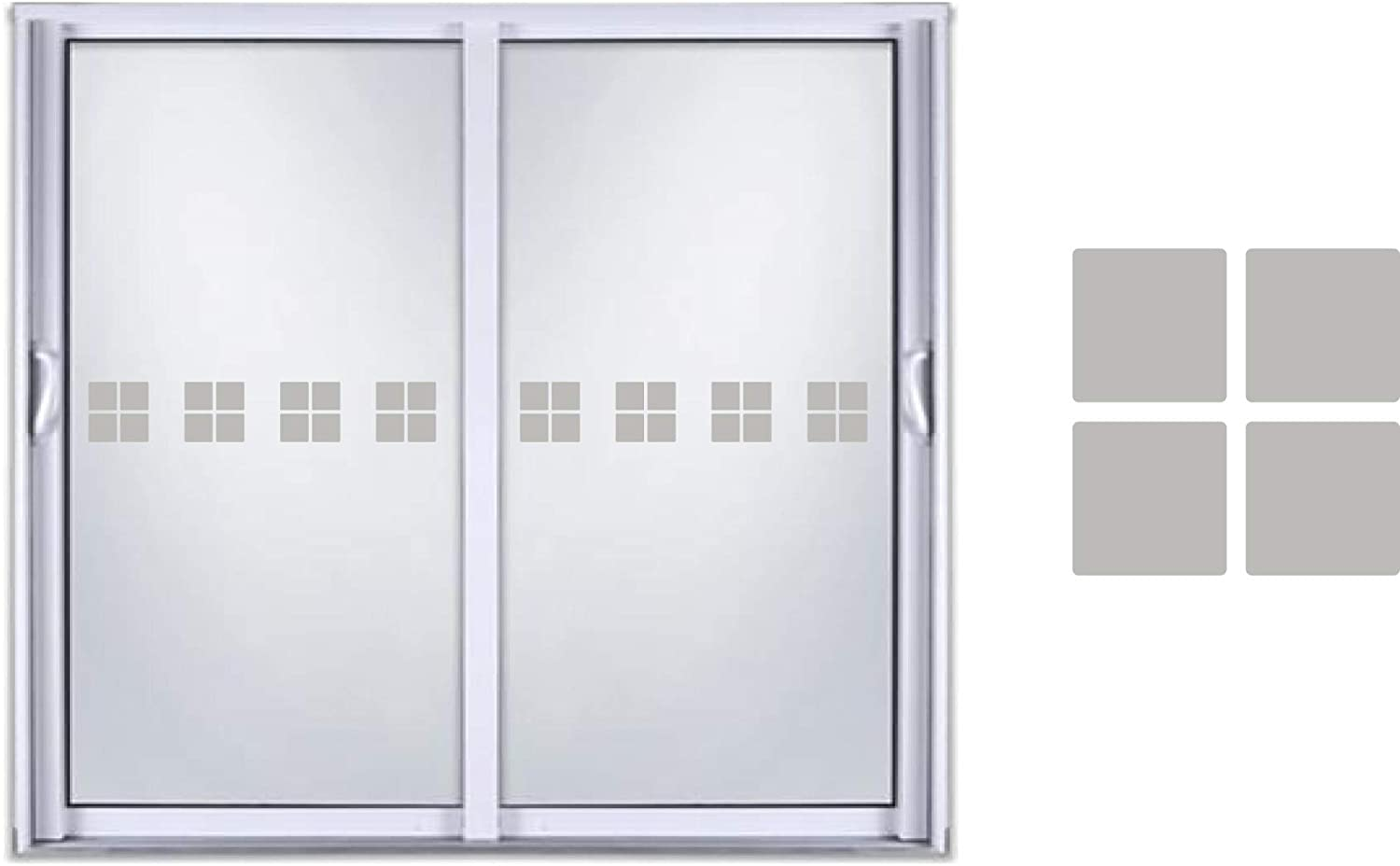 Sliding Door Indicator Safety Film Etched Glass Frosted Vinyl Decal Sticker Squares