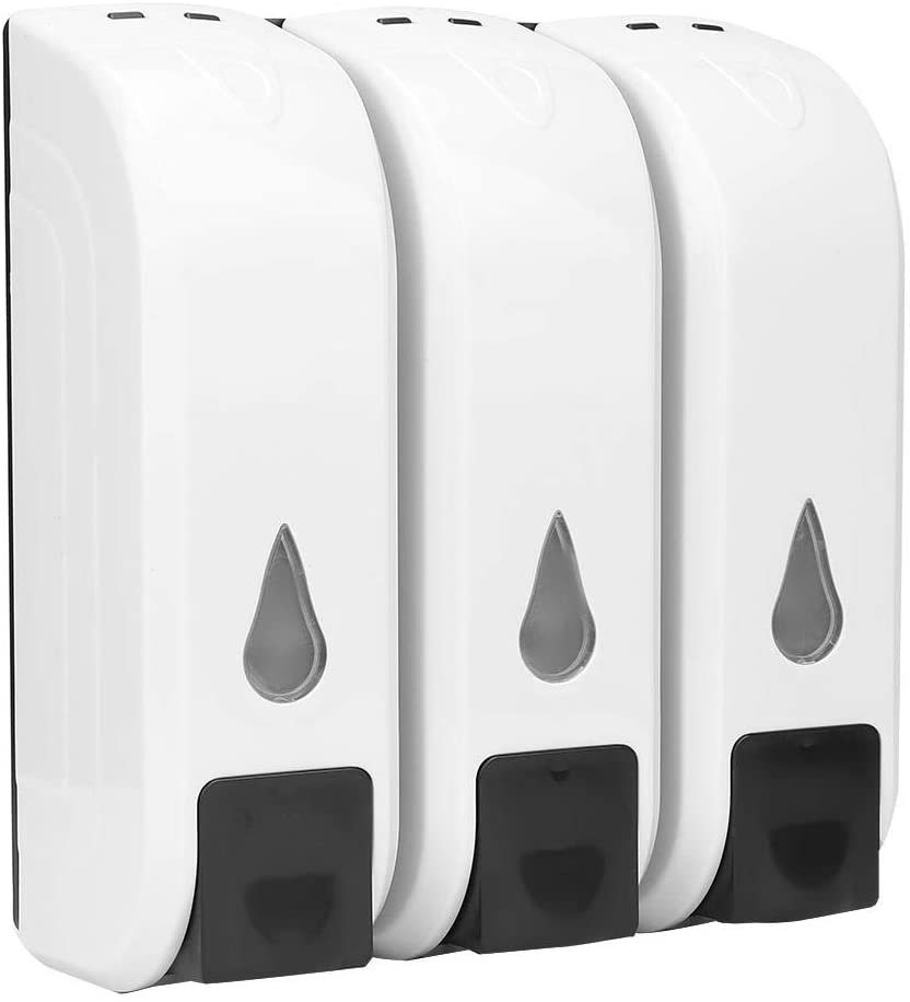 keyren Liquid Lotion Sanitizer Wall Mount Soap Dispenser, Durable Shampoo Box, for Bathroom Taking a Shower Women Hotel