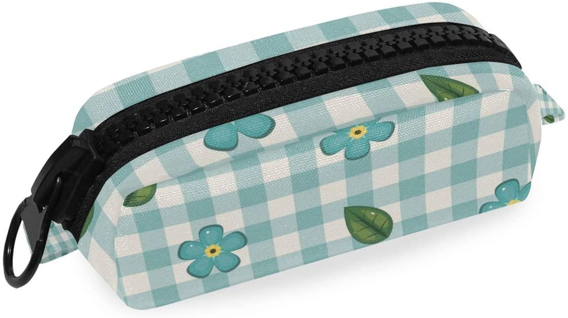 Canvas Zipper Pencil Case Lattic Flower Pen Bag Cosmetic Makeup Bag Pouch DIY Craft Bag