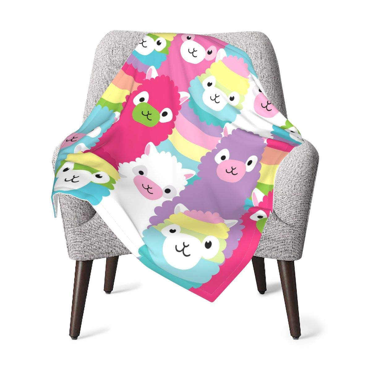 Delerain Alpaca Family Baby Throw Blanket 30