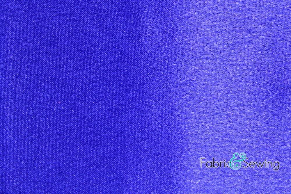 Royal Blue Crepe Back Satin Fabric Polyester 7.5 Oz 58-60