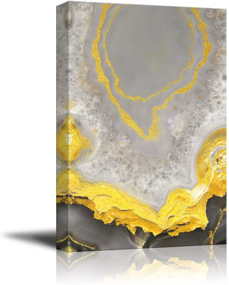 wall26 - Canvas Wall Art - Abstract Golden Texture - Giclee Print Gallery Wrap Modern Home Art Ready to Hang - 24x36 inches