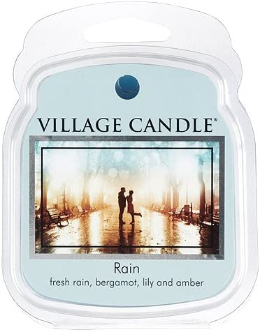 Village Candle Rain, Wax Melt Scented Wax Melt, 2.2 oz, Blue