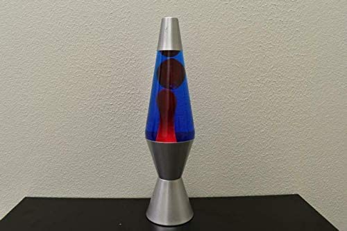 14.5 inch 20oz Lava Brand Motion Lamp Blue Liquid Red Wax