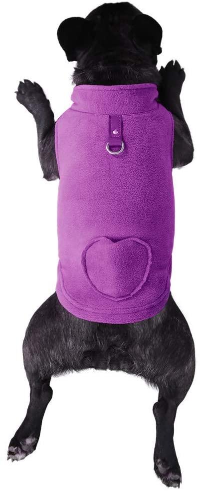 Lil Piggy Fleece Dog Sweater, Dog Vest with Waste Bags in Pocket