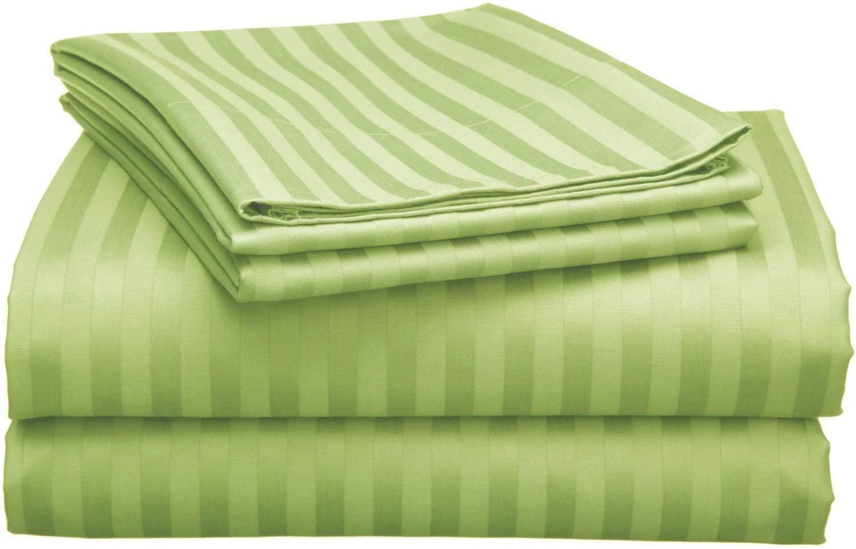 JV Emporium Luxury 4-Piece Bed Sheet Set 500 TC 100% Egyptian Cotton - King Size - Fit Up (19