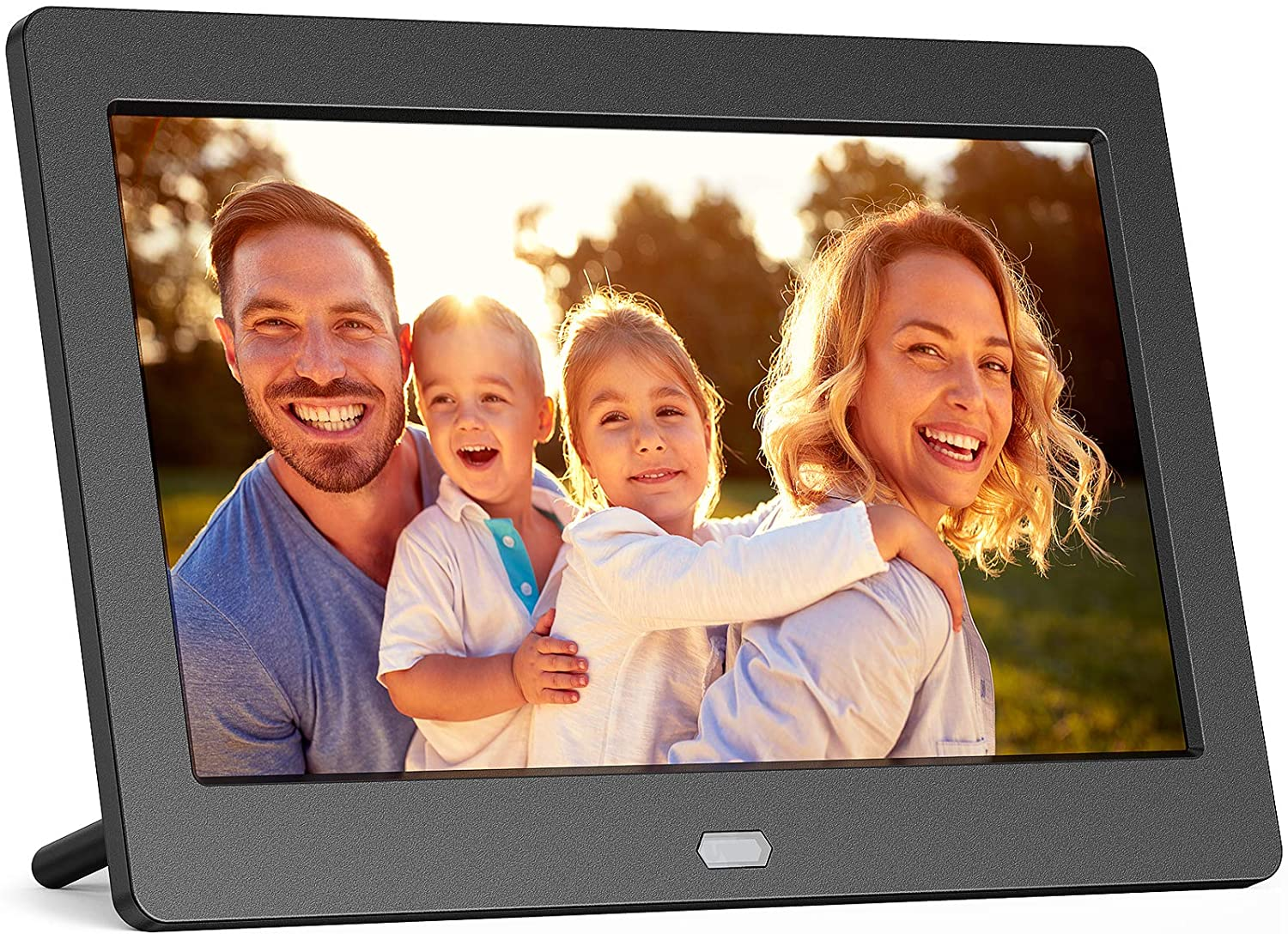 Digital Photo Frame with IPS Screen - 7-inch Digital Picture Frame with 1080P Video, Music, Photo, Auto Rotate, Slide Show, Remote Control, Calendar, Time,1280x800 16:9, Support USB and SD Card