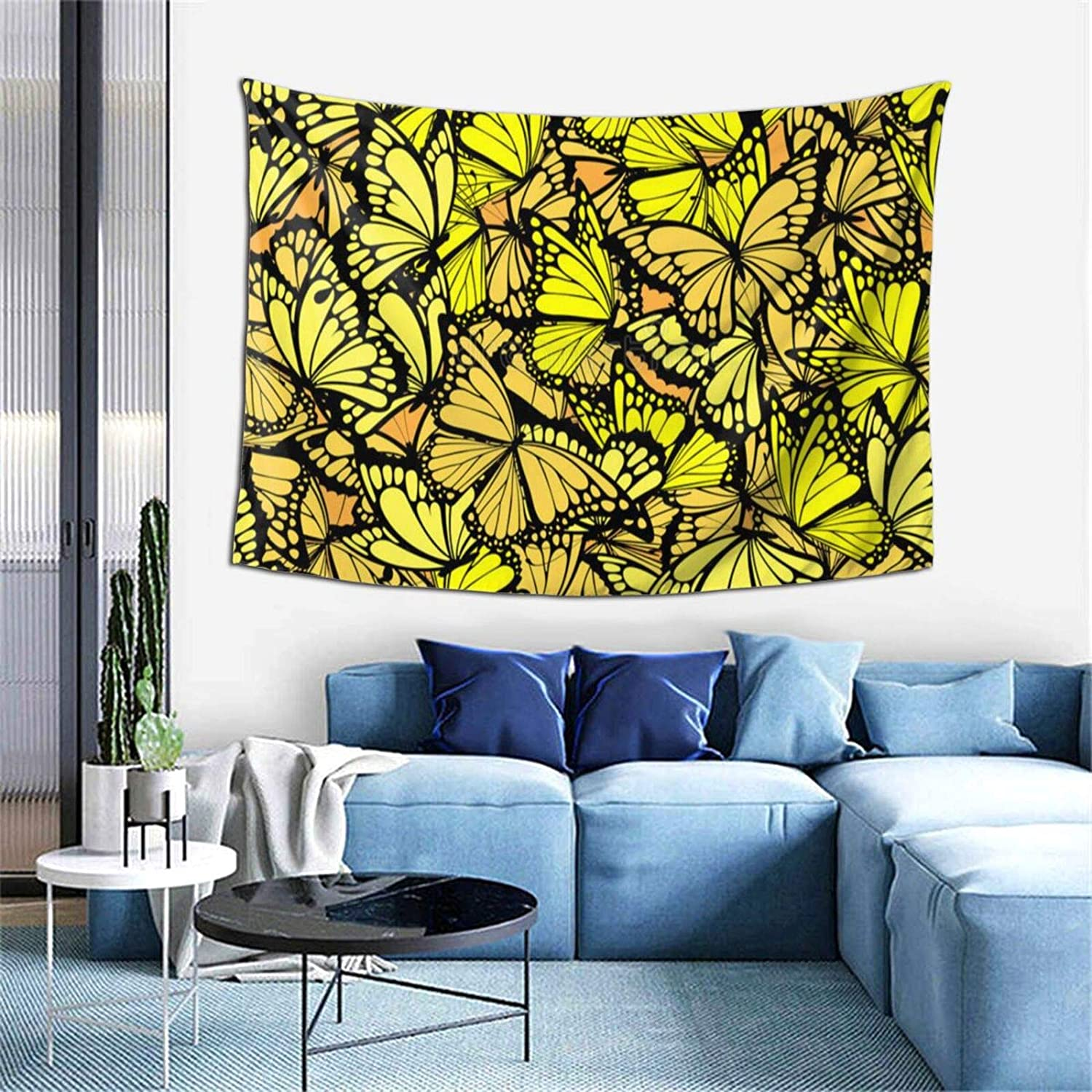 Butterfly Polyester Soft Tapestry Wall Hanging Art Decor Bedroom Living Room Door Balcony Bathroom Kitchen Dorm