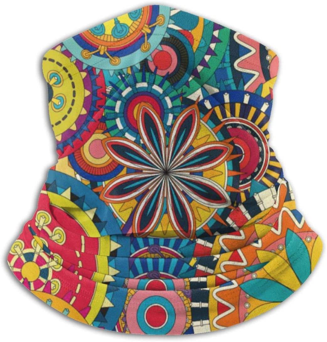 antoipyns Colorful Fall Wheel Tie Dye Headwear Headband Multifunctional Scarf Bandana Face Mask for Women Men