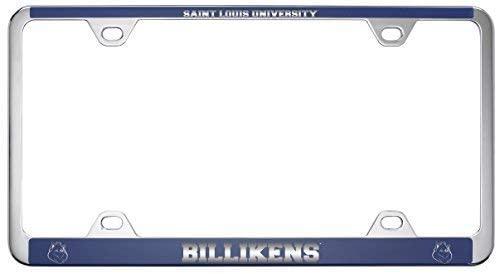 Saint Louis University -Metal License Plate Frame-Blue