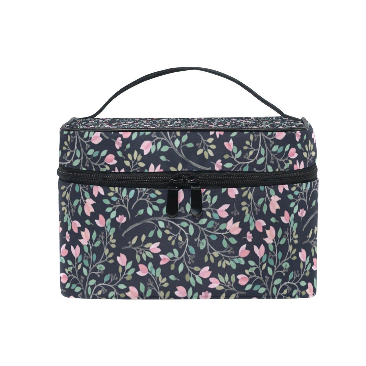 OREZI Elegant Pattern Travel Makeup Case Cosmetic Bag for Girl Women, Large Capacity and Adjustable Makeup Bags Travel Waterproof Toiletry Bag Accessories Organizer