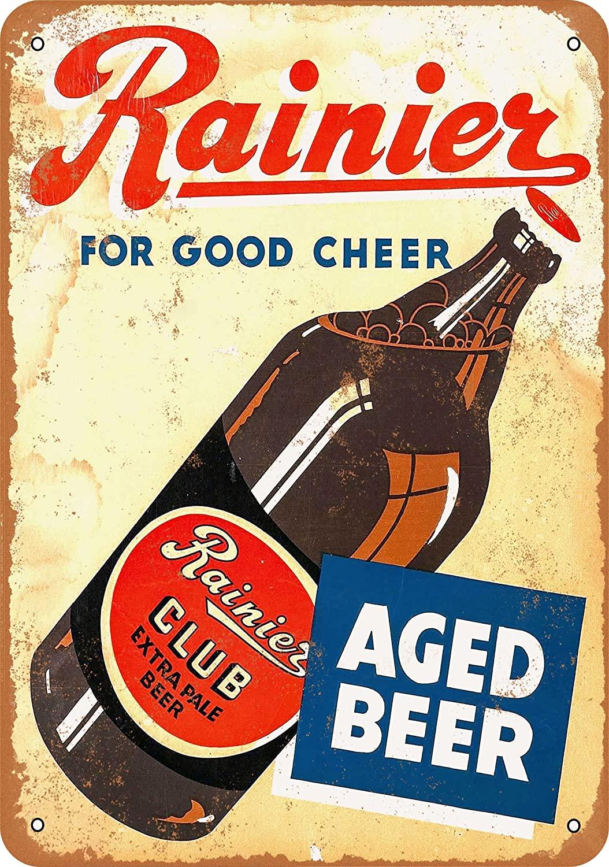 Wall-Color 7 x 10 Metal Sign - 1934 Rainier Club Extra Pale Beer - Vintage Look