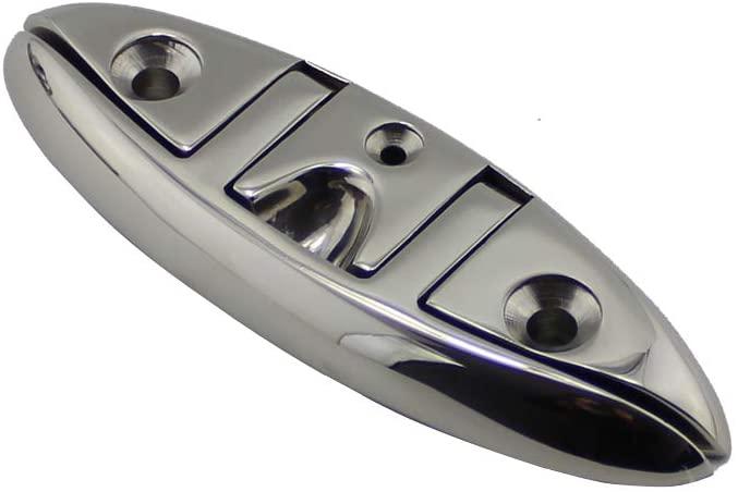 JINYII 316 Stainless Steel Marine Hardware Folding Flagpole Rope Bolt Boat Shape 6 Inch