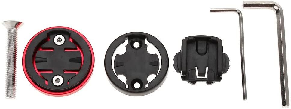 Alomejor Bicycle Stem Top Cap Set Bike Bicycle Headset Top Cap Computer Stopwatch Mount Holder for Garmin/Bryton/Cateye