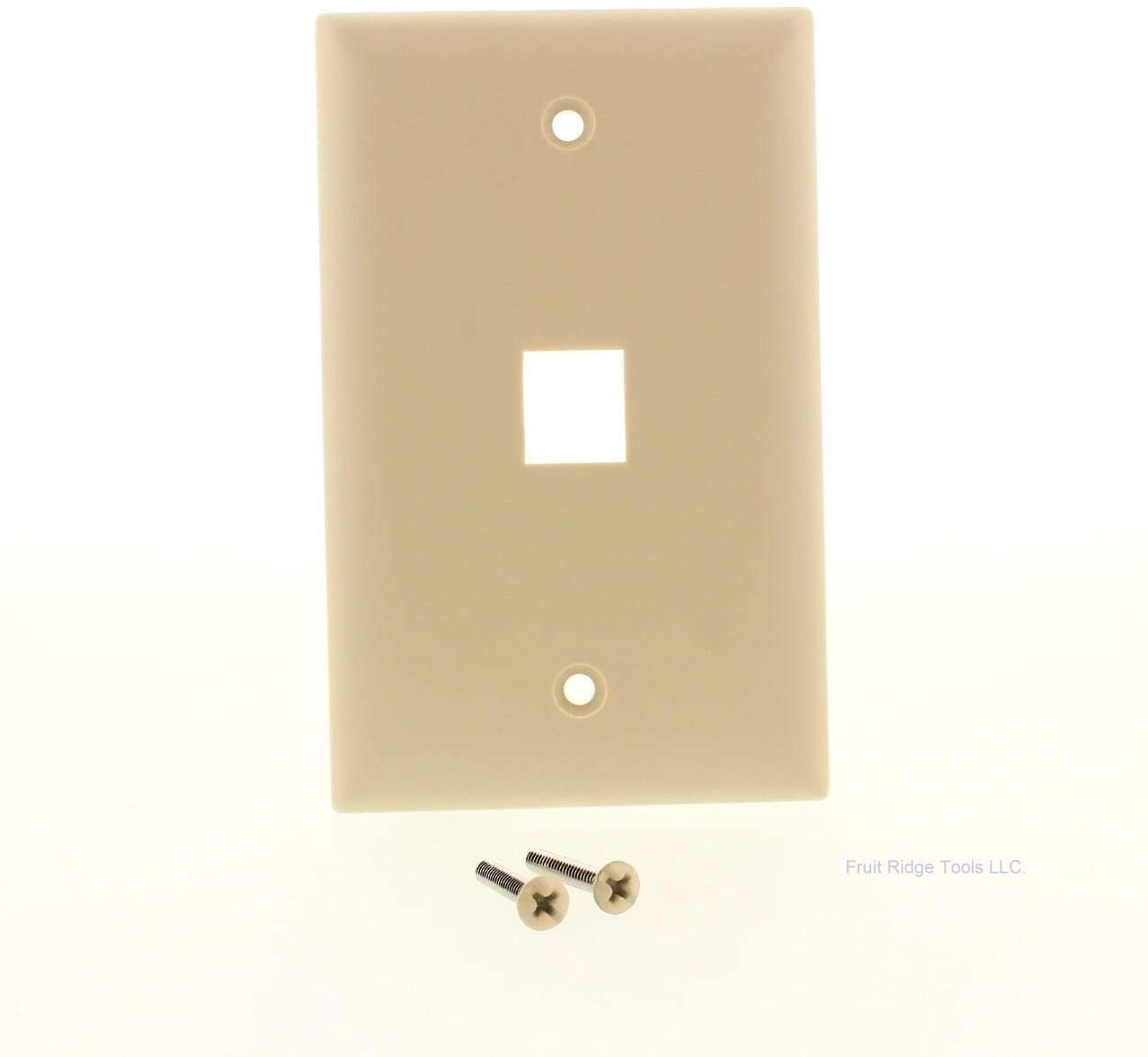 Pass & Seymour KTPD1-I One Gang 1 Port Keystone Wall Plate Ivory,