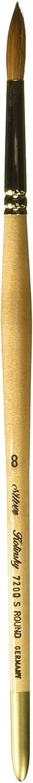 Silver Brush Limited, Silver Kolinsky, Round Paint Brush - Short Handle, Size 8