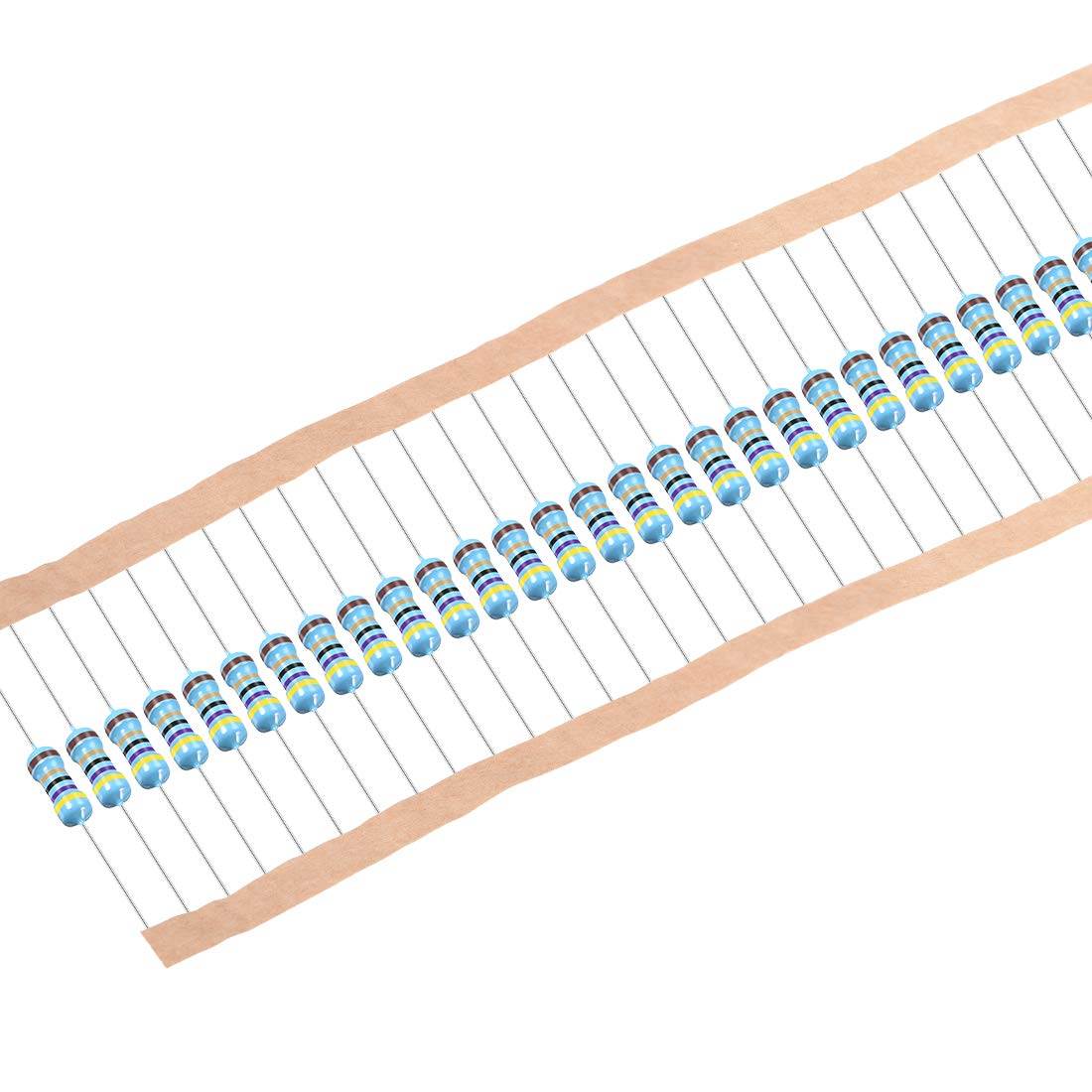 uxcell 100Pcs 47 Ohm Resistor, 1/2W 1% Tolerance Metal Film Resistors, Axial Lead, 5 Bands for DIY Electronic Projects and Experiments