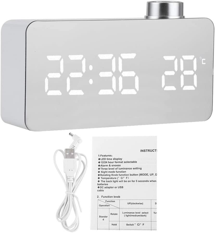 Goick Digital Clock-Digital Alarm Clock USB Charging Digital Clock Desk Clock for Bedroom