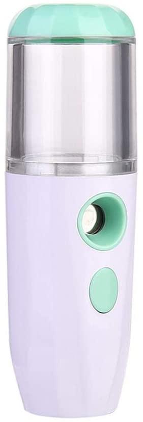 Mini Face Spray Mist, Portable USB Rechargeable Spray Mister Handy Facial Sprayer Mist for Moisturizing Hydrating Skin, Green