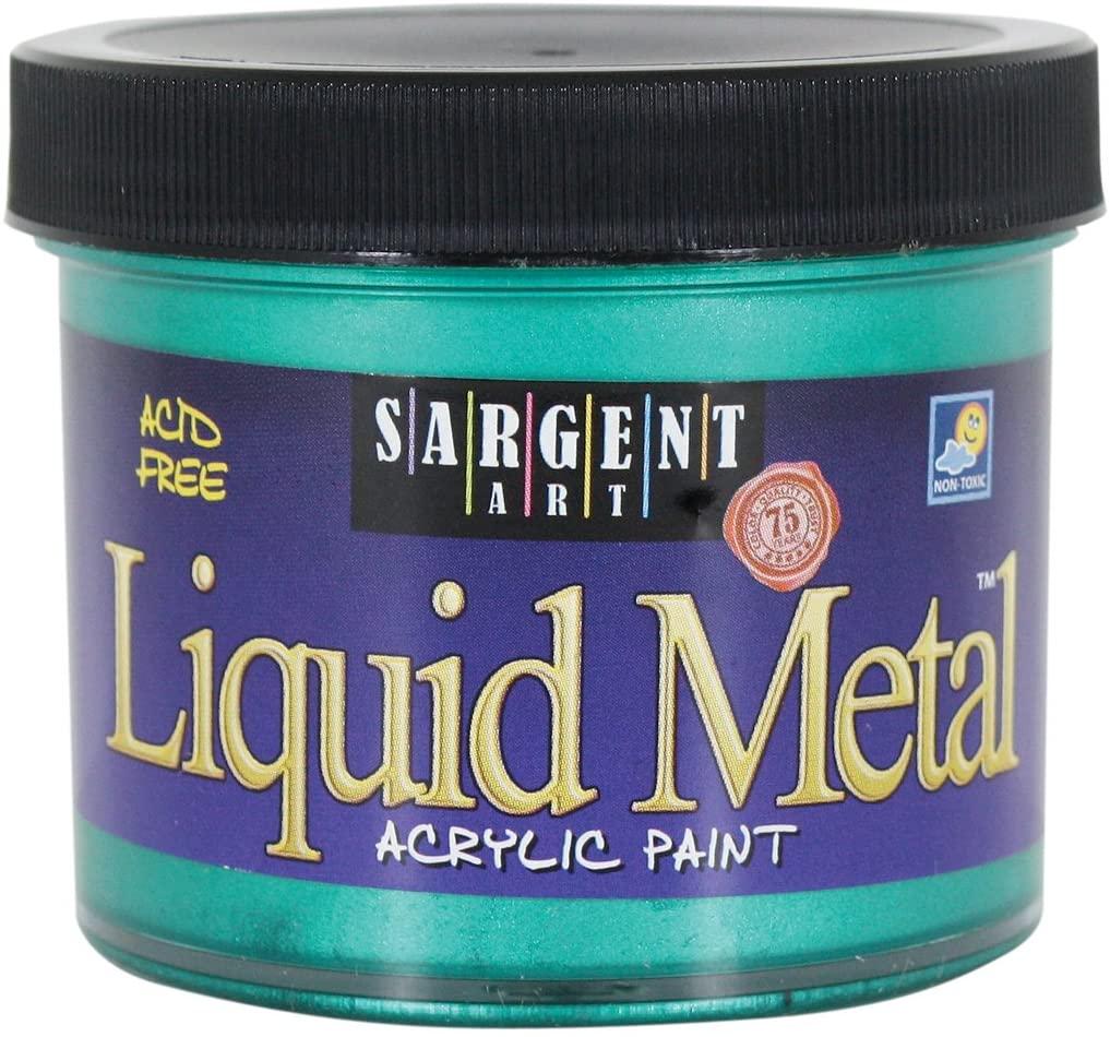 Sargent Art 22-1266 4-Ounce Liquid Metal Acrylic Paint, Green