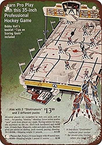 Fsdva 8 x 12 Metal Tin Sign 1969 Table Top Hockey Game Vintage Look Reproduction Retro Decor