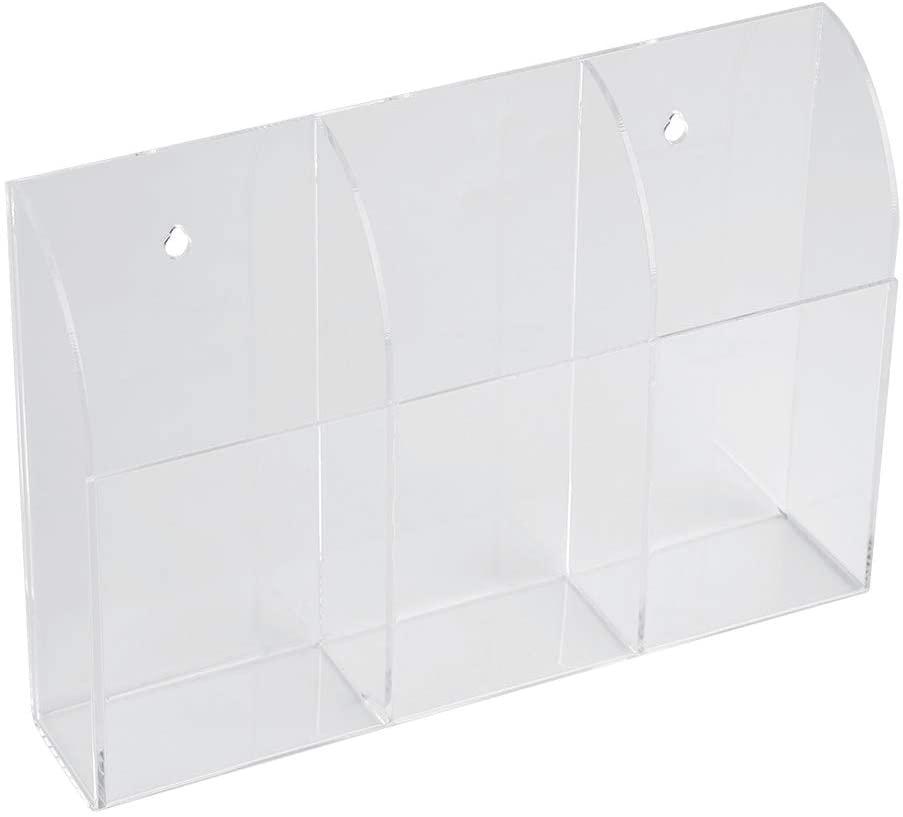 Remote Control Case, Acrylic Air Conditioner Remote Control Holder Case Storage Box Wall Mount Storage Organizer case Remote Control Mount(3)