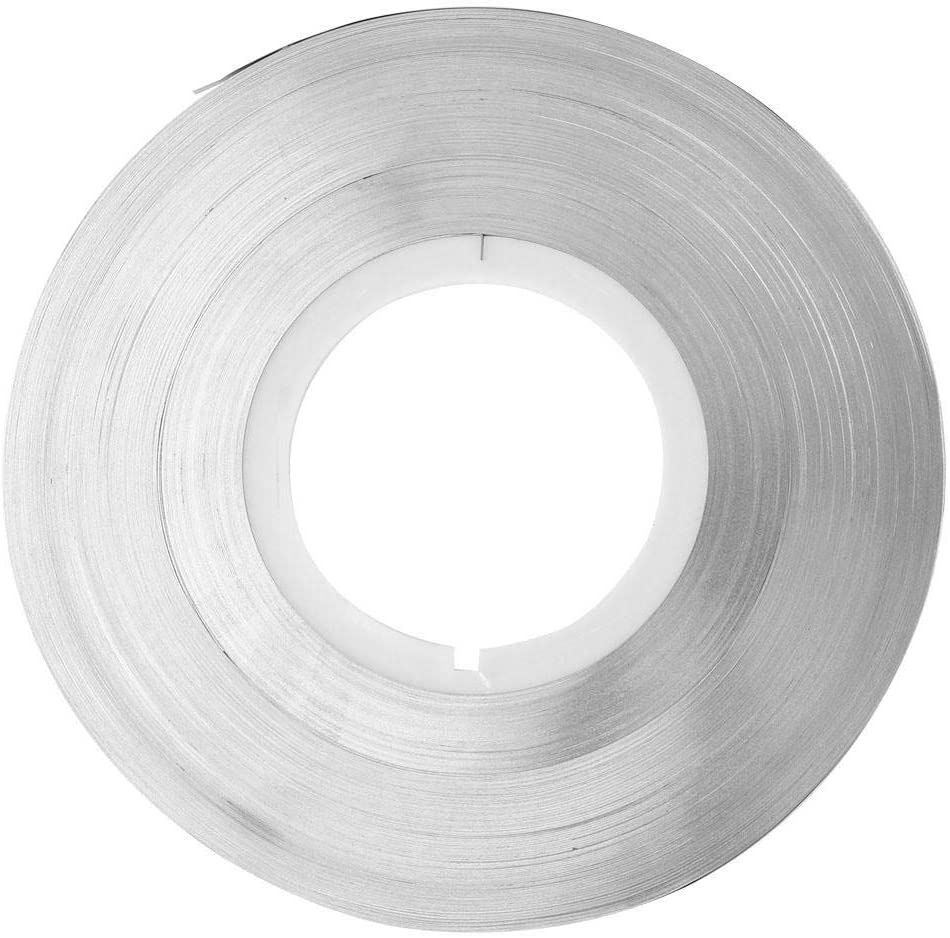 0.2 mm Purity 99.6% Soft Pure Steel Nickel Plated Strip Tape Battery Spot Welding Tape 1KG Connecting Piece for Battery Spot Welding Machine (0.25mm)