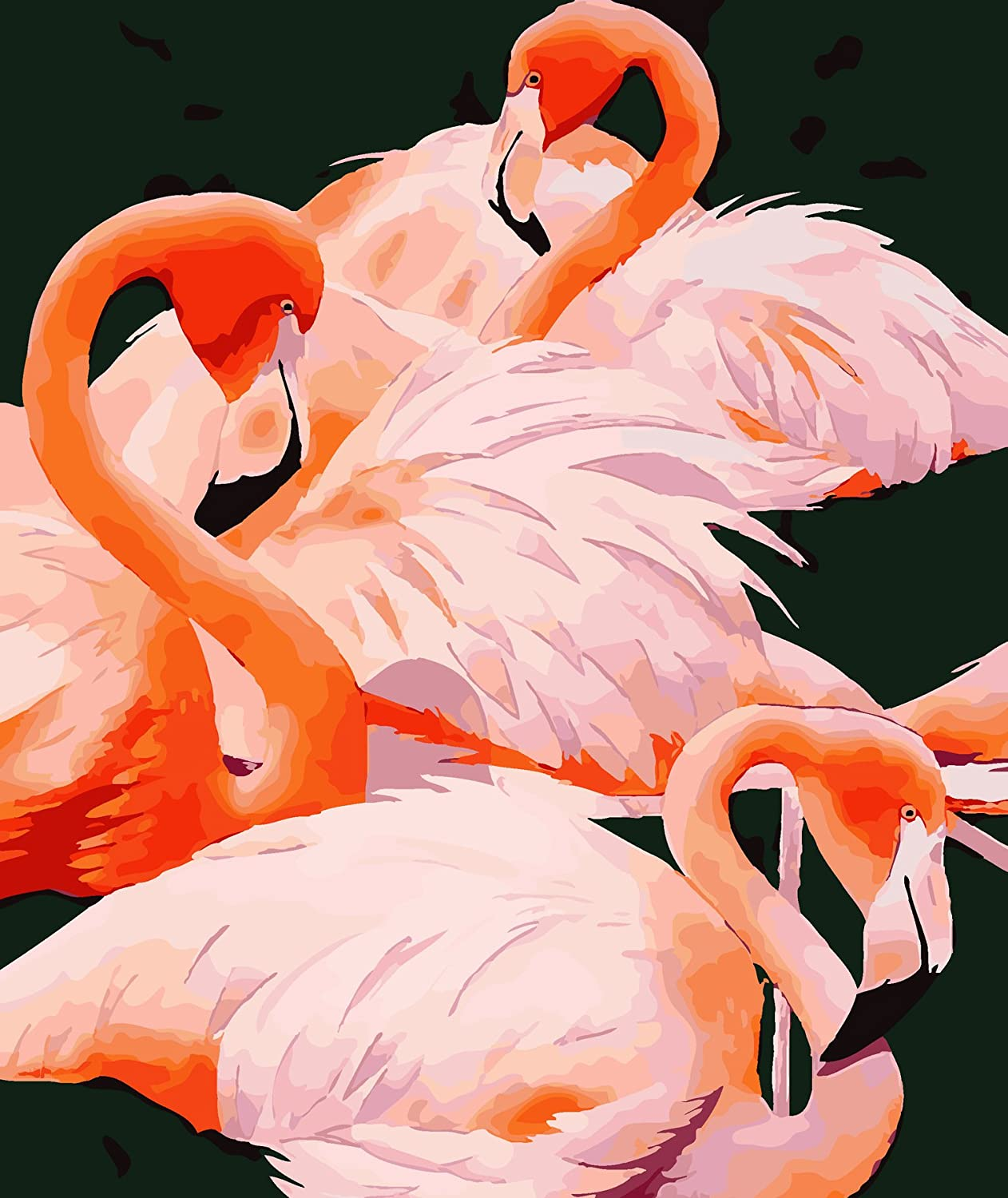 Flamingo Canvas Art Painting DIY Painting by Numbers Kits Coloring Paint Modern Wall Art Picture Gift