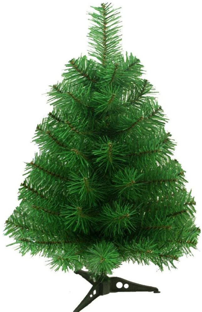 S-SSOY 2 Foot Christmas Trees Artificial Xmas Pine Tree with PVC Leg Stand Base Home Office Holiday Decoration (Green)