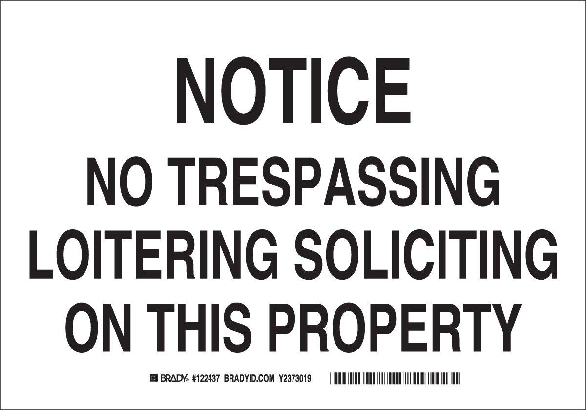 Brady 122546 Admittance Sign