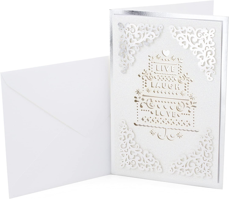 Hallmark Signature Wedding Card (Live Laugh Love)