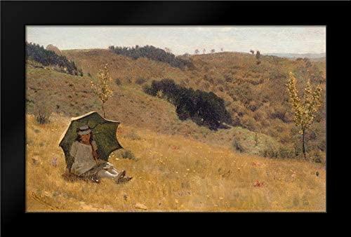 Alma-Tadema, Sir Lawrence 24x16 Black Modern Framed Art Print Titled Sunny Days, 1874
