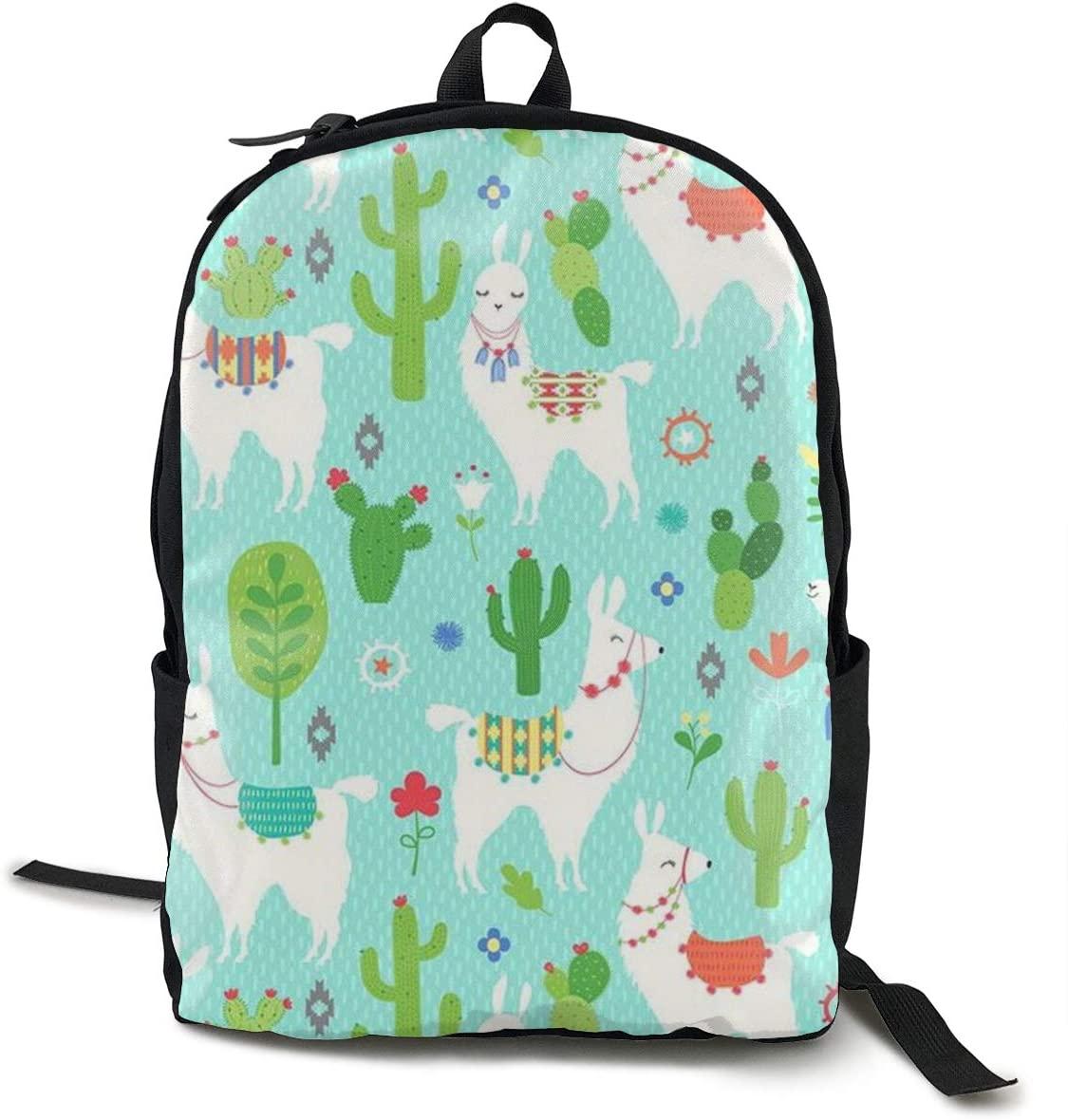 NiYoung Men Women Laptop Backpack Business Travel Anti Theft Daypack Durable College School Bookbag Computer Backpack, Cute Llama