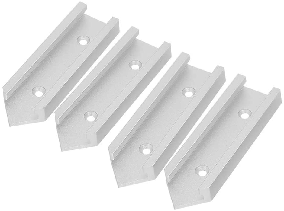 T-track Connector, Miter Track Jig Fixture Slot Connector For Router Table, 4-Pack