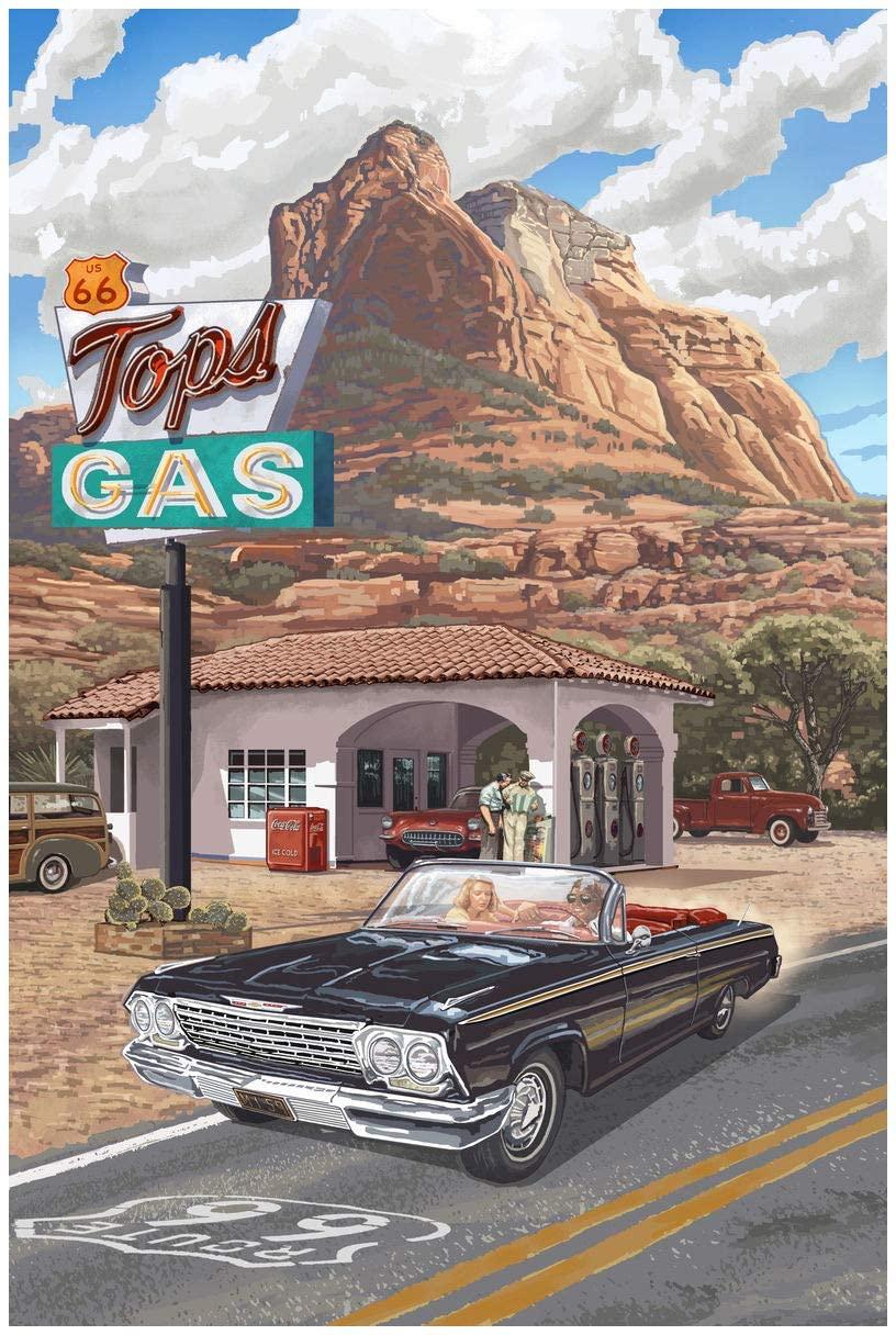 Route 66 Giclee Art Print Poster from Original Travel Artwork by Artist Paul A. Lanquist 24 x 36