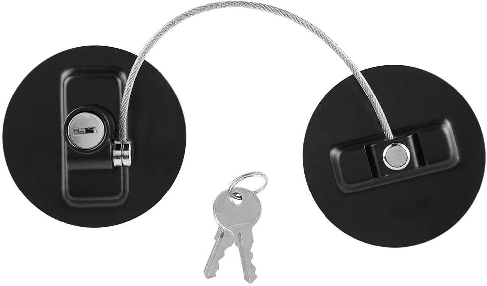 Children Safety Lock, Wire Cable Lock for Window Door Refrigerator for Kids Safety(Black)