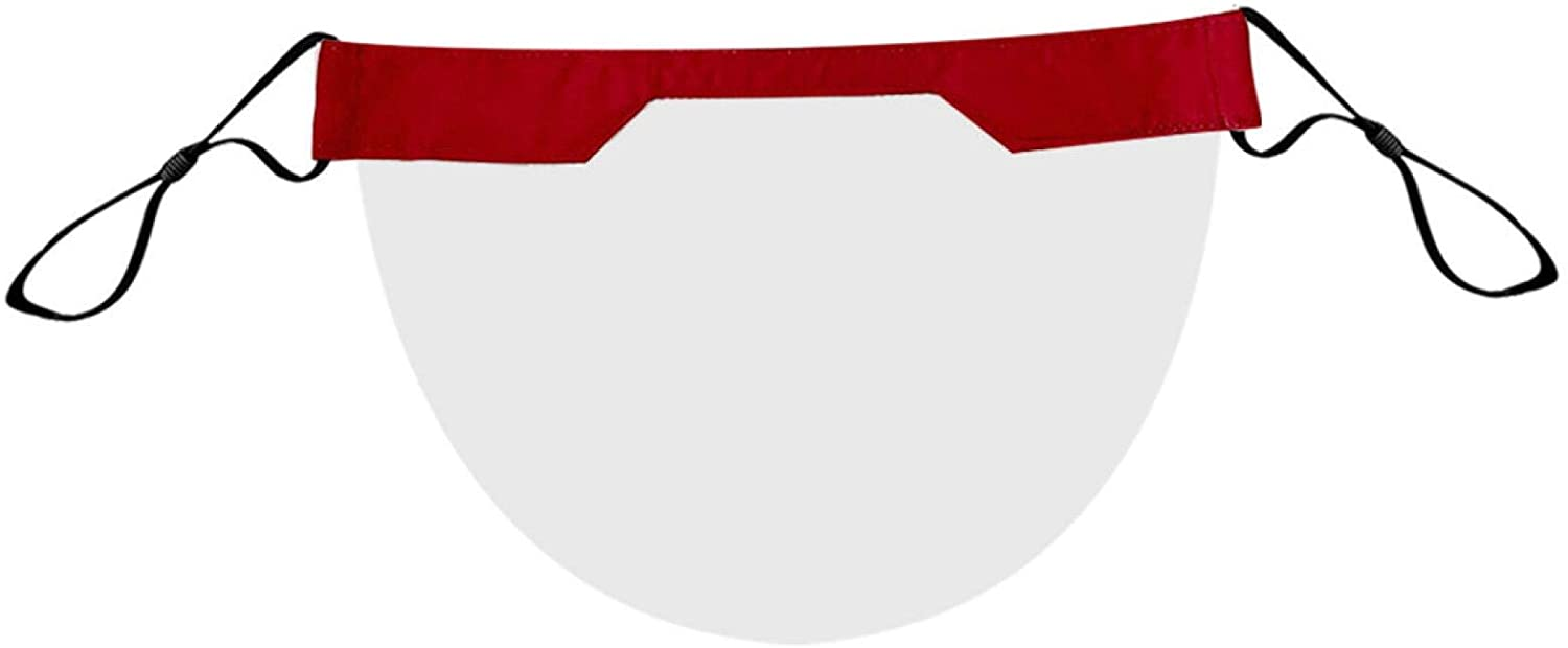 1/2/3/4/5/10PC Adult PVC Transparent Mouth Shade,Washable,Reusable (1, Red)