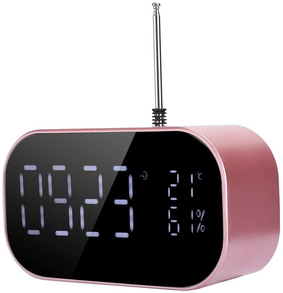 Jimfoty Wireless Bluetooth Speaker, Bedside Speaker, Sturdy, Durable Alarm Clock Bluetooth Speaker Stable Characteristics for Music Hearing